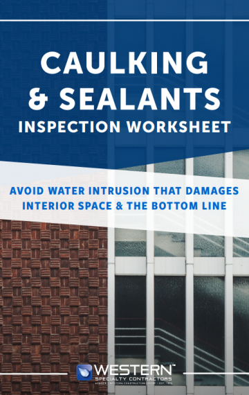 Caulking & Sealants Inspection Worksheet