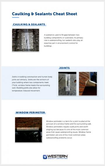 Caulking & Sealants Cheat Sheet