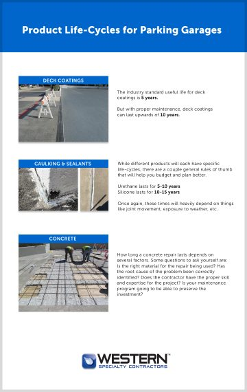 Parking Garage Life Cycles Cheat Sheet